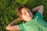 child-grass